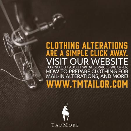 New to alterations? We've brought this timeless skill into the modern century by offering services online! Check out our website tmtailor.com for all of the services we provide along with our how to pin your clothing videos and instructions on how to ship your clothing, and more!