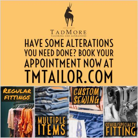 WE ARE OPEN, we are now accepting  appointments regular fitting , Multiple Items (5 or more), Custom Sewing Consultations, or for Specialty Fittings (something that may be a bit complicated, but wasn't listed in the other appointment categories).Appointments are preferred but we do allow walk-ins. Book your appointment at: https://tmtailor.com/pages/book-an-appointment
