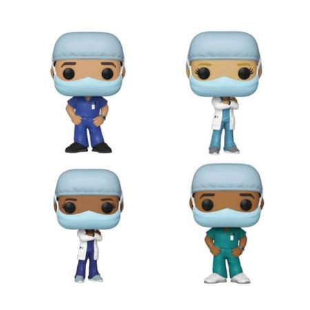 Funko POP! Front Like Worker series now available in store and on our site! As the novel coronavirus SARS-CoV-2 spread across the world and millions have fallen ill to the new and mysterious disease known as COVID-19, doctors and nurses stood on the frontlines, battling a global pandemic of the likes not seen in a century. Funko celebrates these heroes with four new Funko POP! figures of male and female health care workers. Standing 3 3/4' tall, these masked figures feature Funko's trademark design. Pick them up in store or at cultureshockshop.com