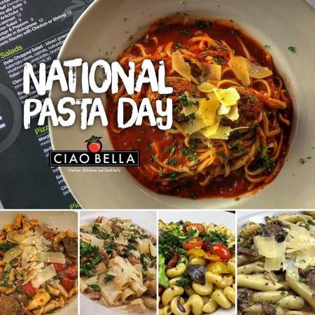 It's national pasta day! Ciao has so many choices between our specialty pastas and pick your pasta options. After all, beauty comes in all shapes and sizes.Open for curbside pick-up or for dine-in reservations at 5:30 and 7:30pm! Give us a call to save your table. 815-654-9900 • ciaobellaitaliankitchen.comMangiamo! Cin, cin!