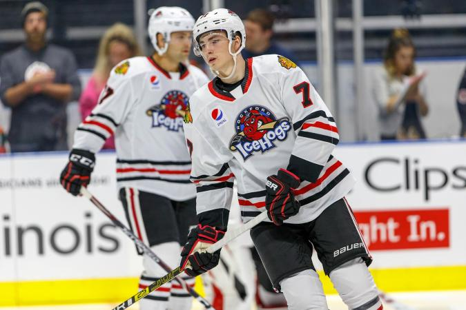 #ICYMI, you can take your favorite IceHogs player's jersey home for the Holidays in our auction! #Blackhawks forward Kirby Dach's ONLY game-used jersey with the Hogs is up for grabs!  Info and Bid: https://tinyurl.com/HogsfortheHolidays