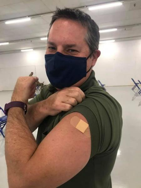 Be like Mark! Get your vaccine! Thank you #wchd for facilitating this important movement!