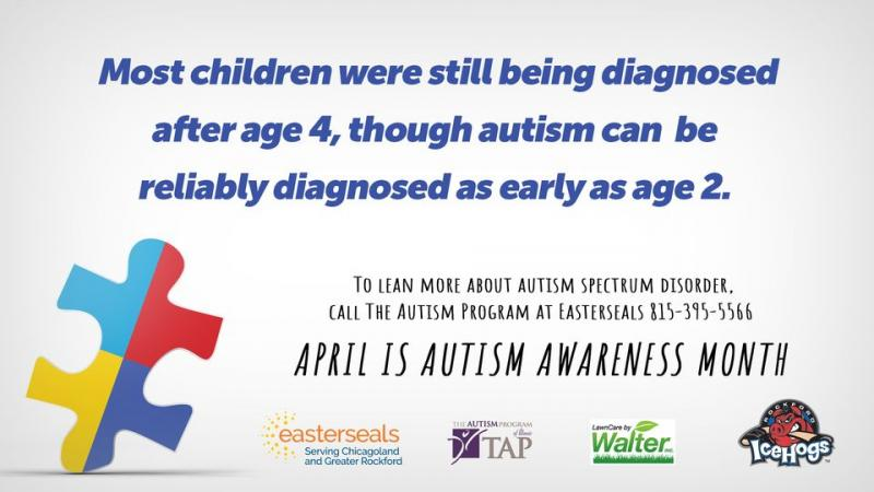 Though most children are being diagnosed after age 4, autism can be reliably diagnosed as early as age 2. Visit our friends Easterseals serving Chicagoland and Rockford for more information and join us for #AutismAwarenessMonth